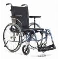 Инвалидное кресло-коляска с облегченной прочной рамой и откидной спинкой, регулируемой по углу наклона.