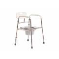 Складной санитарный стул удобный при хранении и транспортировке.