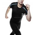 мужская согревающая компрессионная футболка с усиливающими вставками